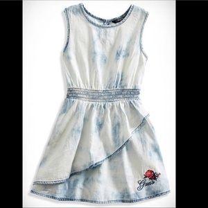 Girl Tie-Dye Chambray Dress by Guess Kids, Size 6